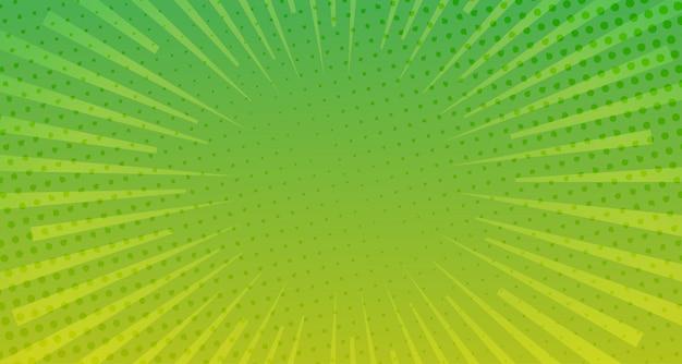 Fond De Bande Dessinée Demi-teinte Vert Vecteur Premium