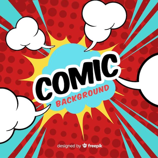 Fond de bande dessinée Vecteur gratuit