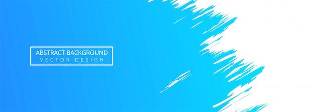 Fond De Bannière Aquarelle Abstrait Trait Bleu Vecteur gratuit