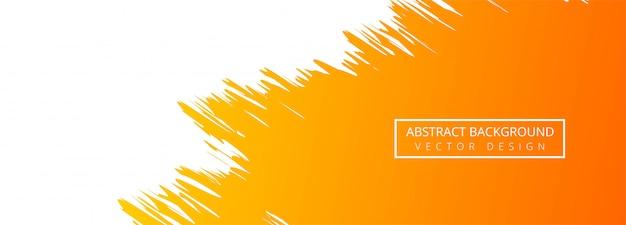 Fond De Bannière Aquarelle Abstraite Orangel Vecteur gratuit