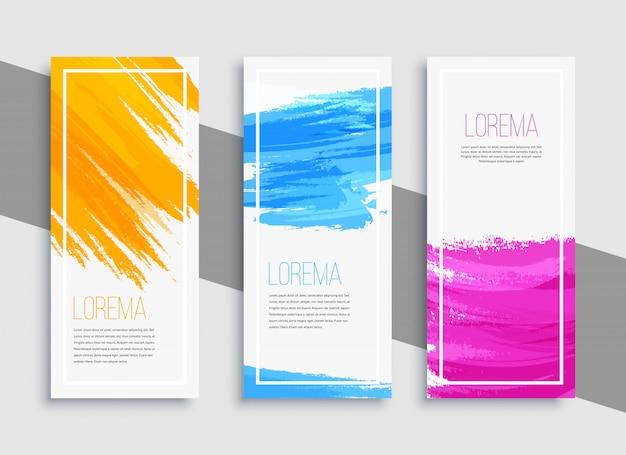 Fond de bannière colorée moderne Vecteur Premium