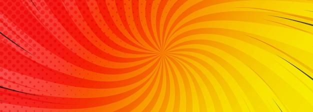 Fond De Bannière Comique Coloré Abstrait Vecteur gratuit