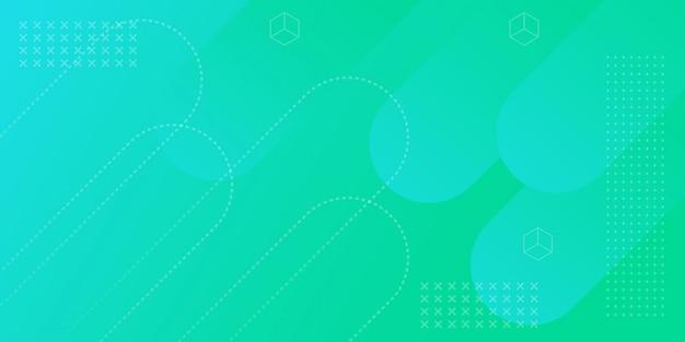 Fond de bannière de dégradé géométrique Vecteur Premium