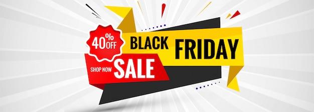 Fond de bannière étiquette black friday sale Vecteur gratuit