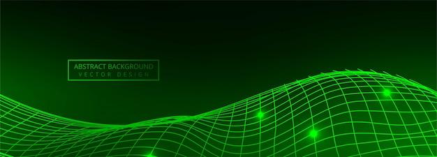 Fond de bannière de technologie moderne fil vert Vecteur gratuit