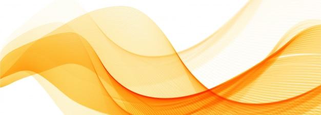Fond De Bannière Vague Orange élégant Abstrait Vecteur gratuit
