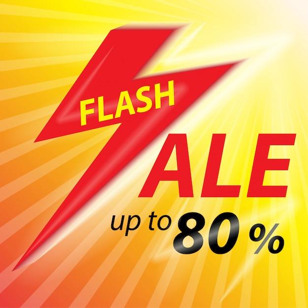 Fond de bannière de vente flash. Vecteur Premium