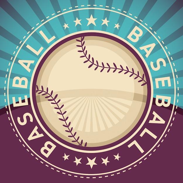 Fond de baseball Vecteur Premium