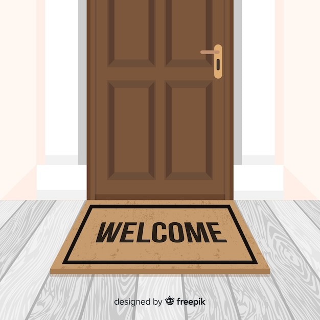 Fond de bienvenue Vecteur gratuit