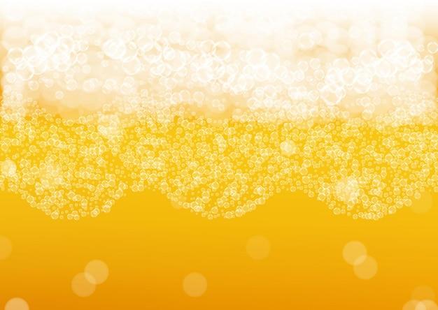 Fond De Bière Avec Des Bulles Réalistes. Vecteur Premium