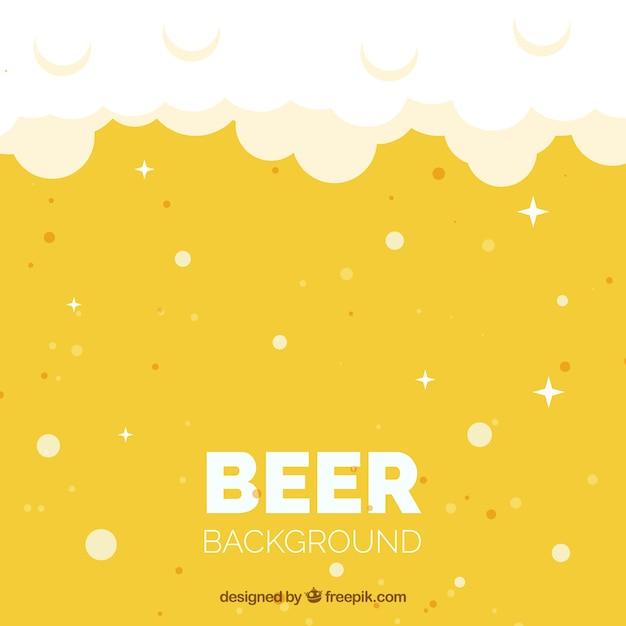 Fond de bière plate Vecteur gratuit