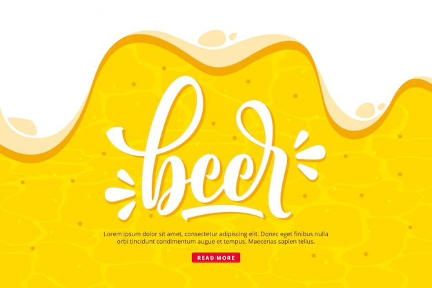 Fond De Bière Vecteur Premium