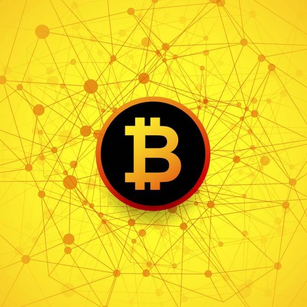 Fond de bitcoin moderne Vecteur gratuit