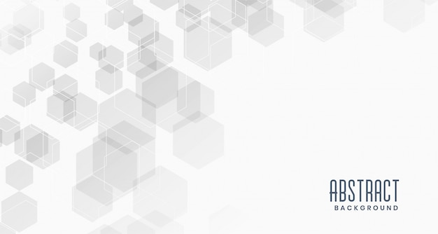 Fond Blanc Abstrait Hexagones Vecteur gratuit