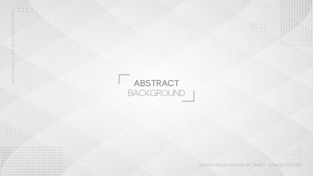Fond Blanc Abstrait Moderne Avec Style Géométrique Vecteur Premium
