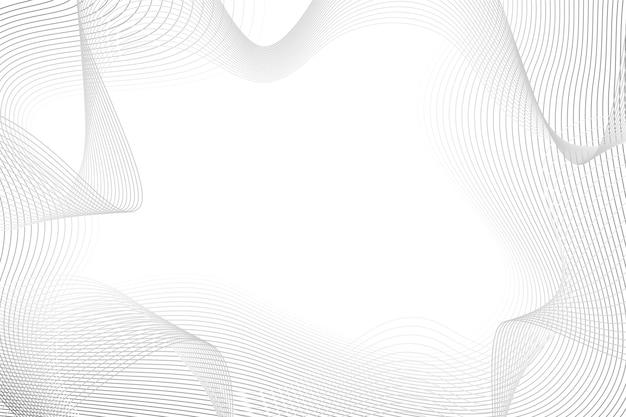 Fond Blanc Avec Espace Copie De Lignes Abstraites Vecteur gratuit