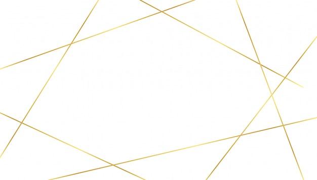 Fond Blanc Avec Des Formes De Lignes De Luxe Dorées Vecteur gratuit