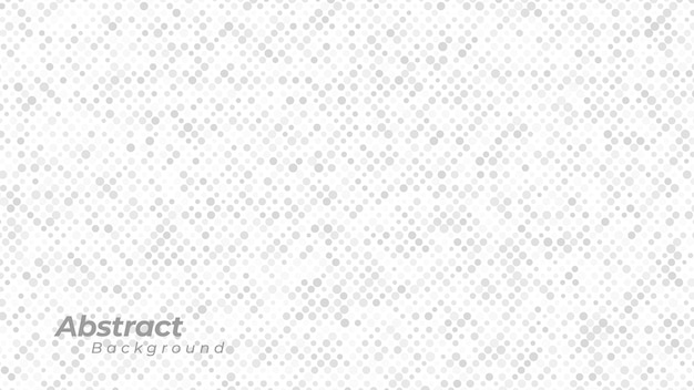 Fond Blanc Avec Motif De Points Abstraits. Vecteur Premium