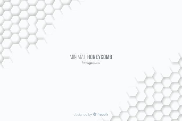 Fond blanc avec nids d'abeilles construits aux coins Vecteur gratuit