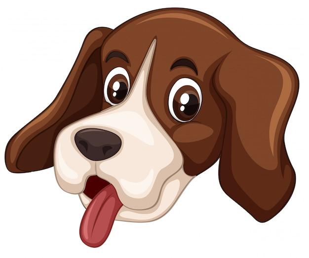Fond blanc tête de chien Vecteur gratuit