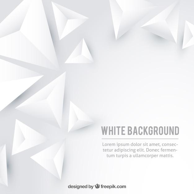 Fond blanc avec des triangles Vecteur gratuit