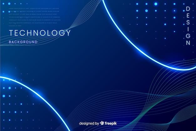 Fond bleu abstrait de la technologie Vecteur gratuit
