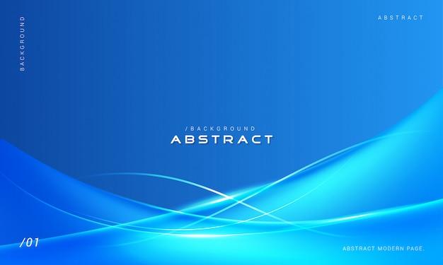 Fond bleu abstrait vagues élégantes Vecteur Premium