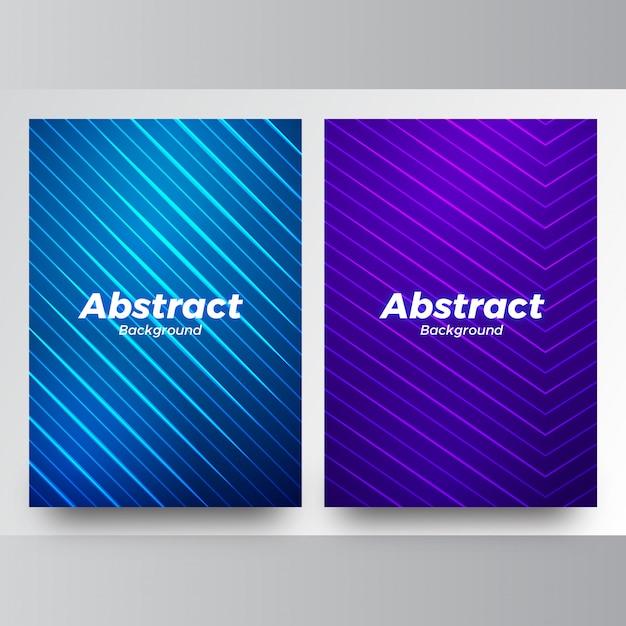 Fond bleu abstrait vectoriel Vecteur Premium