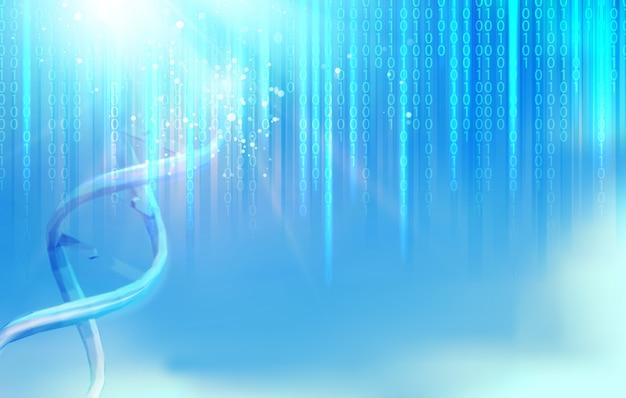 Fond bleu bigdata Vecteur Premium