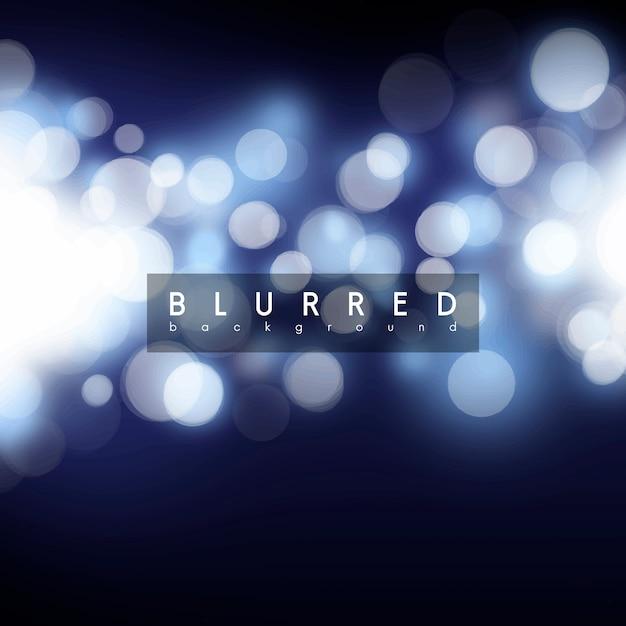 Fond Bleu De Bokeh Vecteur gratuit