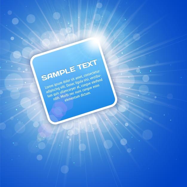 Fond Bleu Clair Avec Modèle De Texte Vecteur Premium