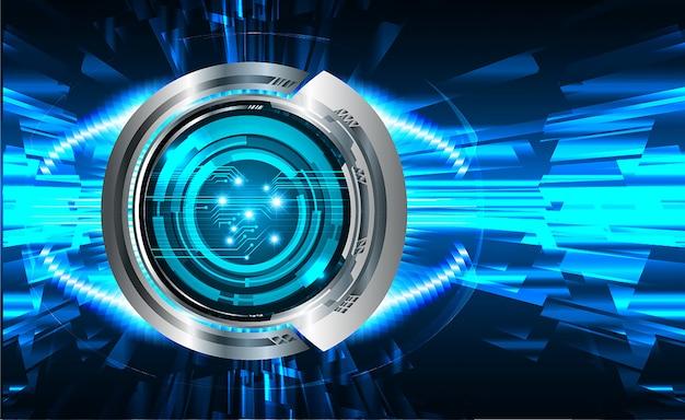 Fond bleu concept de technologie d'avenir cyber circuit Vecteur Premium