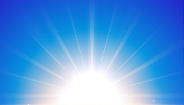 Fond Bleu Avec Un Design D'effet De Lumière Rougeoyante Vecteur gratuit
