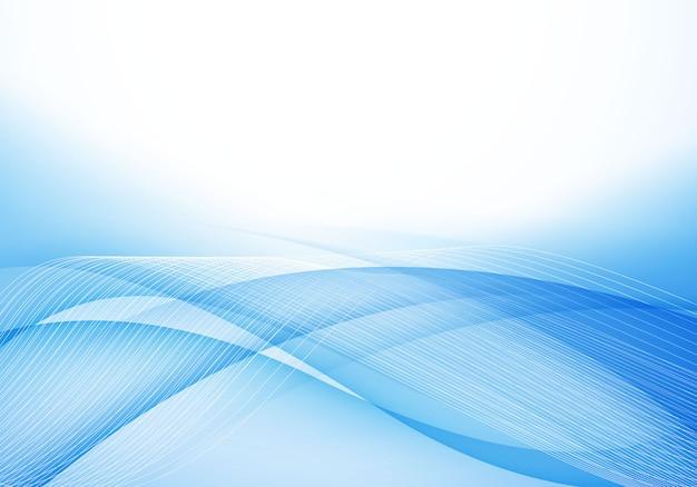 Fond bleu doux Vecteur Premium