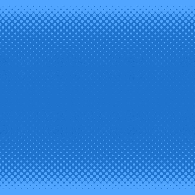 Fond bleu en forme de demi-teinte - graphique vectoriel à partir de cercles de différentes tailles Vecteur gratuit