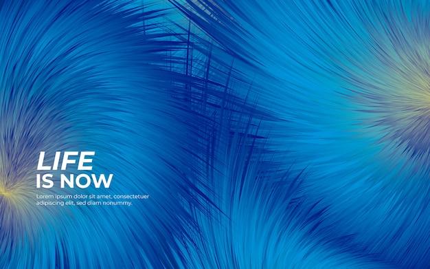 Fond Bleu Fourrure Duveteuse Vecteur gratuit