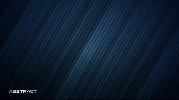 Fond Bleu Futuriste Avec Des Rayures Diagonales Vecteur Premium