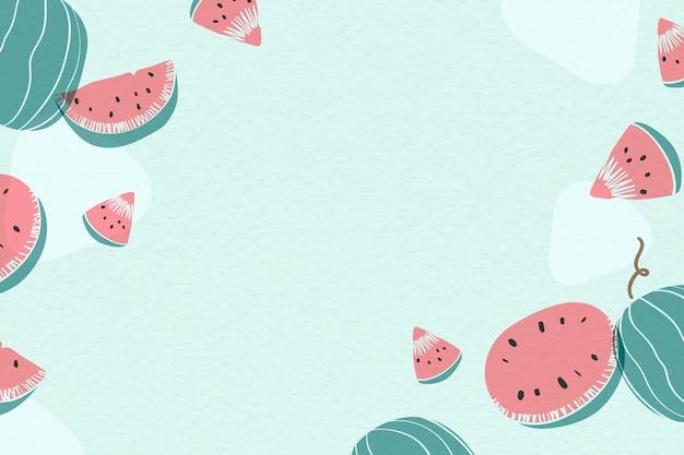 Fond bleu de melon d'eau Vecteur gratuit