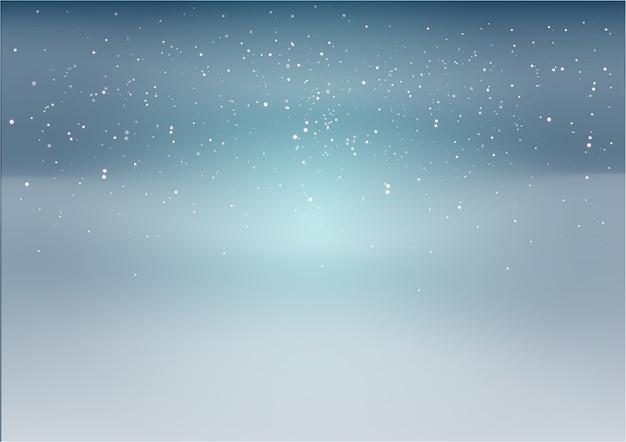 Fond Bleu Et Noir Avec Des étoiles Blanches Et Des Points Vecteur Premium