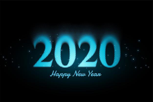 Fond bleu nouvel an lumineux Vecteur gratuit