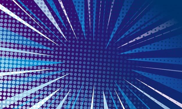 Fond bleu pop art Vecteur Premium