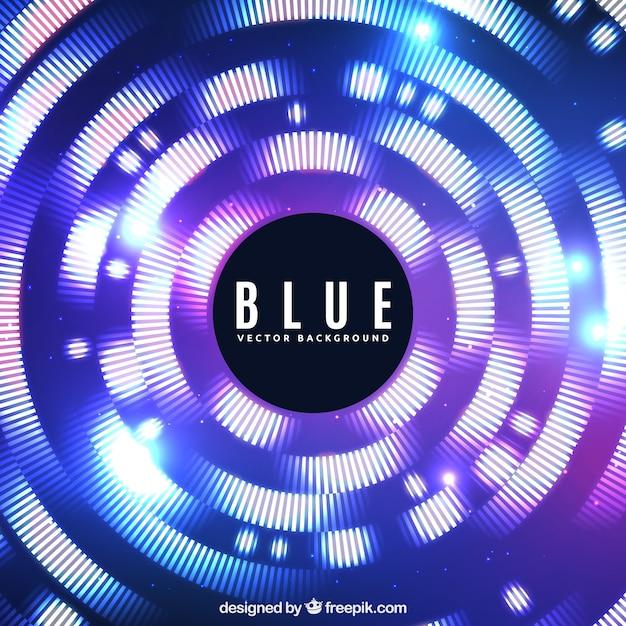 Fond Bleu Avec Style Moderne Vecteur gratuit