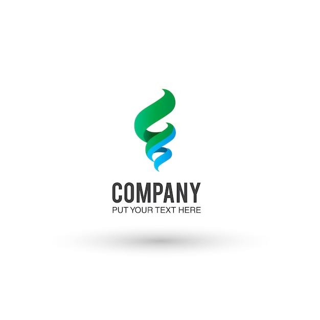 Fond Bleu Et Vert Du Logo Vecteur gratuit