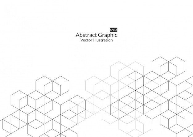 Fond de boîtes abstraites. technologie moderne Vecteur Premium