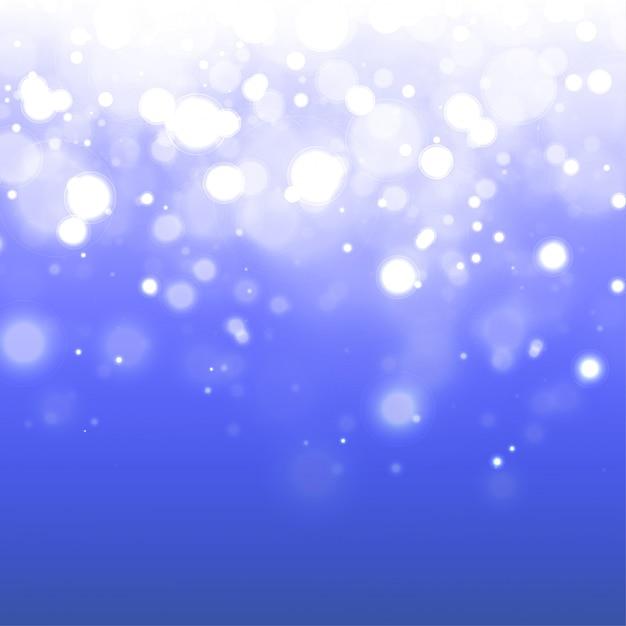 Fond De Bokeh Bleu Brillant Vecteur Premium