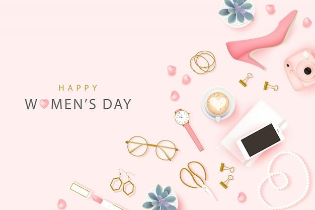 Fond de bonne journée internationale des femmes Vecteur Premium