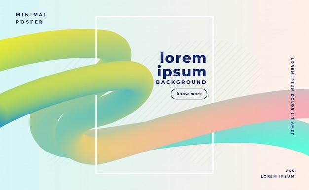 Fond de boucles de fluide de couleur pastel 3d élégant Vecteur gratuit