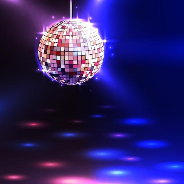Fond de boule disco Vecteur gratuit