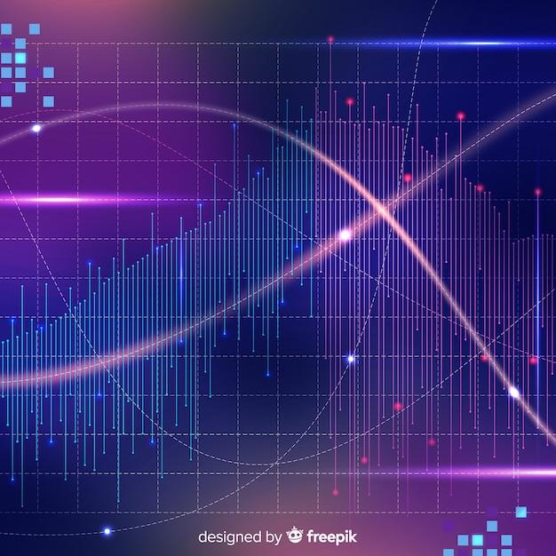 Fond brillant de données volumineuses dans un style abstrait Vecteur gratuit