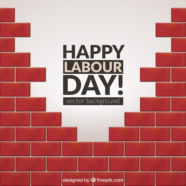 Le fond de briques jour de travailleur Vecteur gratuit